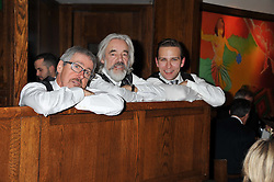 Left to right, GRIFF RHYS-JONES, ROGER LLOYD PACK and STEFAN BOOTH at One Night Only at The Ivy held at The Ivy, 1-5 West Street, London on 2nd December 2012.