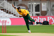 Imad Wasim of Nottinghamshire \during the Vitality T20 Blast North Group match between Nottinghamshire County Cricket Club and Leicestershire County Cricket Club at Trent Bridge, Nottingham, United Kingdom on 4 September 2020.