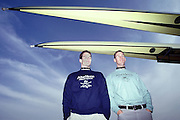 London, Great Britain, Presidents' Dan Snow (OX) and Kieran West (CU) Right.<br /> <br /> 147th Oxford vs Cambridge Varsity Boat Race, Over the Championship Course, Putney To Mortlake. 24.03.2001<br /> <br /> [Mandatory Credit: Peter SPURRIER/Intersport Images]<br /> <br /> Crews. <br /> <br /> Oxford UBC. Bow. Robin BOURNE-TAYLOR,  MF BONHAM, EB LILLEAHI, Ian WEIGJELL, Dan SNOW, Brian PALM. Matt SMITH cox JC MONCRIEFF.<br /> <br /> Cambridge UBC. Bow. JC SWAINSON, Lukas HIRST, TM EDWARDS-MOSS, RIck DUNN, Josh WEST, Tom STALLARD. Tim WOOGE and cox Christian CORMACK. [Mandatory Credit; Peter SPURRIER/Intersport Images]<br /> <br /> 20010324 University Boat Race, Putney to Mortlake, London, Great Britain.