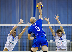 Antti Siltala of Finland  during friendly volleyball match between National Teams of Slovenia and Finland on December 30, 2013 in Hala Tivoli, Ljubljana, Slovenia. The game was closed for public. Photo by Vid Ponikvar / Sportida