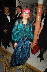 ZANDRA RHODES at the Chain of Hope Ball held at The Dorchester, Park Lane, London on 4th February 2008.<br /><br />NON EXCLUSIVE - WORLD RIGHTS