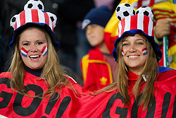 Fans of Paraguay enjoy atmosphere prior to the  2010 FIFA World Cup South Africa Quarter Finals football match between Paraguay and Spain on July 03, 2010 at Ellis Park Stadium in Johannesburg. (Photo by Vid Ponikvar / Sportida)