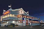 Bubba Gimp Shrimp Co Restaurant   An Evening at Santa Monica Pier, Los Angeles, California, USA