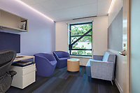 Interior design image of pediatric neurology and behavioral health care faility at Children's National Hospital Takoma Theater by Jeffrey Sauers of CPI Productions