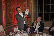 VADIM GRIGORIAN; ROBERT WILSON; Perdurity: A Moving Banquet of Time. Royal Salute curates a timeless evening at Hampton Court Palace with Marcos Lutyens, 2 June 2015.