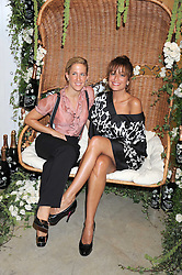 Left to right, VANESSA MIEDLER and REBECCA LOOS at the Quintessentailly Summer Party at the Phillips de Pury Gallery, 9 Howick Place, London on 9th July 2008.<br />