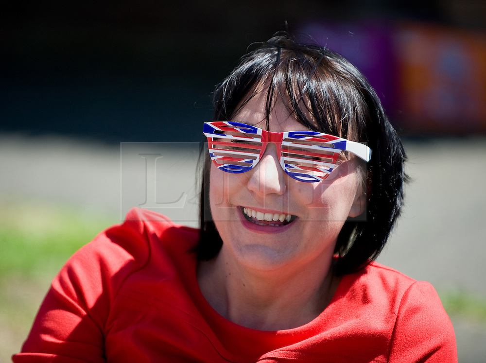 © Licensed to London News Pictures. 04/06/12.Saltburn, England...A street party is held to celebrate the Queen's Diamond Jubilee on Irvin Avenue in Saltburn by the Sea in Cleveland. Pictured is Melanie Crow.. .The Royal Jubilee celebrations. Great Britain is celebrating the 60th  anniversary of the countries Monarch HRH Queen Elizabeth II accession to the throne this weekend Photo credit : Ian Forsyth/LNP