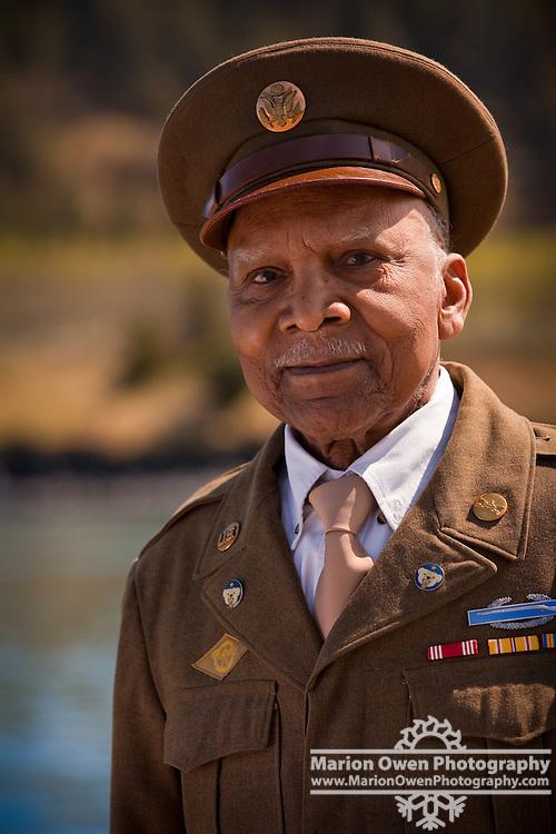 Portrait of WWII veteran who served in Alaska's Aleutian Islands campaign during World War II