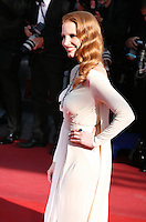 Actress Jessica Chastain at the 'Behind The Candelabra' gala screening at the Cannes Film Festival  Tuesday 21 May 2013