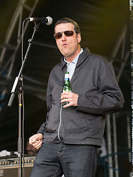 Peter Hooton and The Farm performing at Party At The Palace Music Festival in Linlithgow Palace grounds on Sunday 14th August 2016.<br /> <br /> Alan Rennie/ EEm