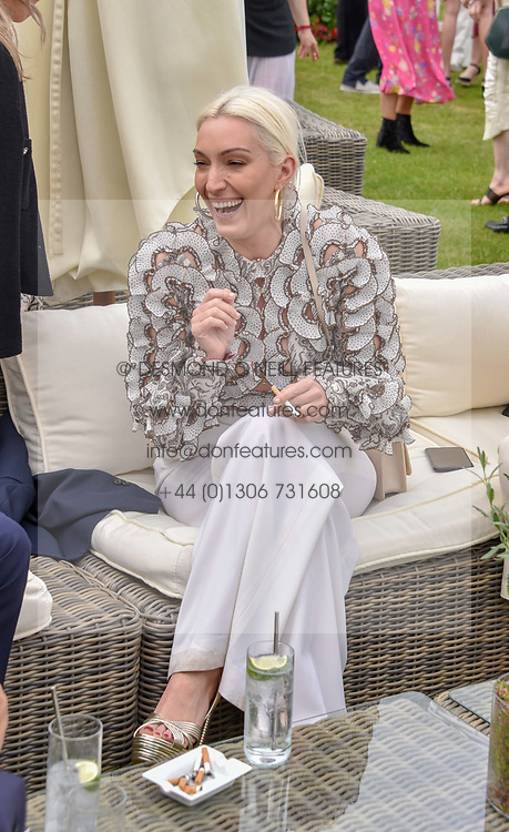 Olivia Buckingham and Bea Fresson at the Cartier Queen's Cup Polo 2019 held at Guards Polo Club, Windsor, Berkshire. UK 16 June 2019. <br /> <br /> Photo by Dominic O'Neill/Desmond O'Neill Features Ltd.  +44(0)7092 235465  www.donfeatures.com