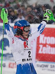 08.01.2019, Hermann Maier Weltcupstrecke, Flachau, AUT, FIS Weltcup Ski Alpin, Slalom, Damen, 2. Lauf, im Bild Petra Vlhova (SVK, 1. Platz) // race winner Petra Vlhova of Slovakia reacts after her 2nd run of ladie's Slalom of FIS ski alpine world cup at the Hermann Maier Weltcupstrecke in Flachau, Austria on 2019/01/08. EXPA Pictures © 2019, PhotoCredit: EXPA/ Johann Groder