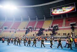 December 8, 2017 - Skopje, MACEDONIA - 171207 Police after the Europa League match between FK Vardar and Rosenborg on December 7, 2017 in Skopje..Photo: Jon Olav Nesvold / BILDBYRN / kod JE / 160096 (Credit Image: © Jon Olav Nesvold/Bildbyran via ZUMA Wire)