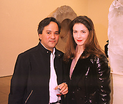 MR & MRS ANISH KAPOOR, he is the artist, at an exhibition in London on 21st January 1998.MES 14