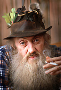 Popcorn Sutton at his home in Parrotsville, Tenn. before committing suicide shortly after. (Thunderhead Photography/Wade Payne)