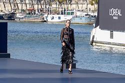 Doutzen Kroes attending the L Oreal Fashion Show in Paris, France on September 30, 2018. Photo by Julien Reynaud/APS-Medias/ABACAPRESS.COM