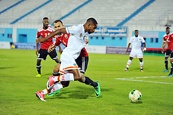 October 7, 2017 - Monastir, Tunisia - Bakambu Cedrick(17) of DR Congo and Aboud Mouad(4)of Libya during the qualifying match for the FIFA 2018 World Cup in Russia between Libya and the Democratic Republic of Congo (DR Congo) at Mustapha Ben Jannet stadium in Monastir  (Credit Image: © Chokri Mahjoub via ZUMA Wire)