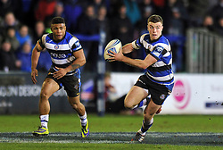 George Ford (Bath) in possession - Photo mandatory by-line: Patrick Khachfe/JMP - Tel: Mobile: 07966 386802 16/01/2014 - SPORT - RUGBY UNION -  The Recreation Ground, Bath - Bath Rugby v Bordeaux-Begles - Amlin Challenge Cup.