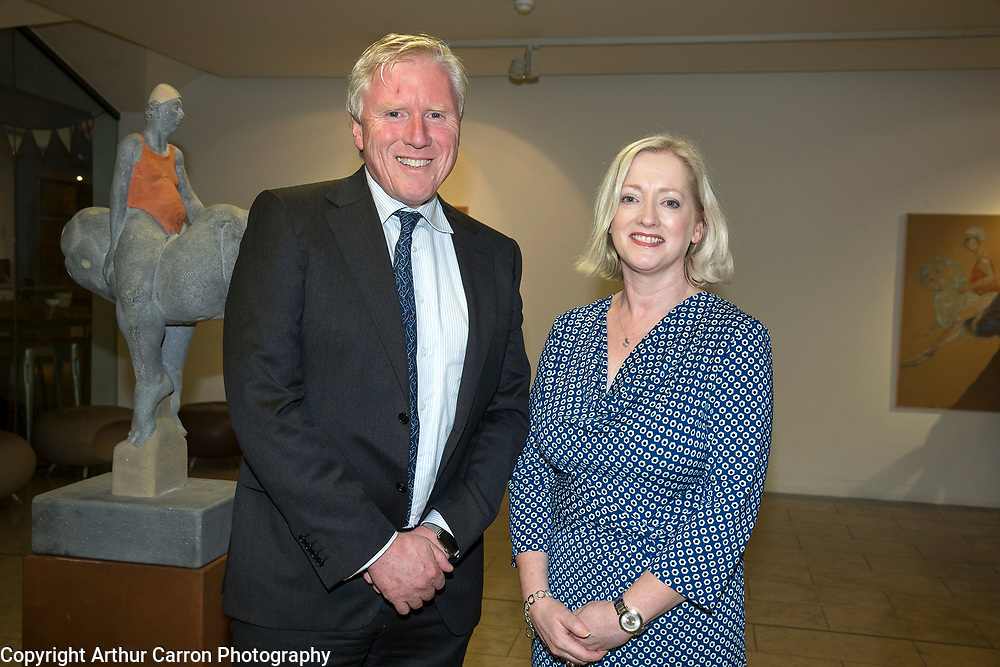 29/10/15 Donal Balfe and Teresa Glynn, Medtronic , at a Philanthropy Ireland lecture, at the Dr. Tony Ryan Gallery at the Royal Hibernian Academy . Picture:Arthur Carron