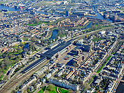 Nederland, Noord-Holland, Haarlem;  03-23-2020; overzicht NS Station Haarlem met omgeving, Kennemerplein en Stationsplein en De Bolwerken.<br /> Overview Haarlem Station with surroundings, Kennemerplein and Stationsplein and De Bolwerken<br /> <br /> luchtfoto (toeslag op standard tarieven);<br /> aerial photo (additional fee required)<br /> copyright © 2020 foto/photo Siebe Swart