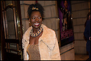Floella Benjamin, Memphis, The Musical. Press night and after party. Shaftesbury Theatre, London WC2 and party at Floridita, Wardour st. Soho.