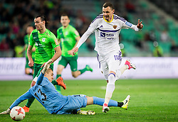 Rok Vodisek of NK Olimpija vs Milivoje Novakovic of Maribor during football match between NK Olimpija and NK Maribor in Round #31 of Prva liga Telekom Slovenije 2016/17, on April 29, 2017 in SRC Stozice, Ljubljana, Slovenia. Photo by Vid Ponikvar / Sportida