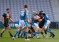 Rugby Union - 2020 / 2021 Gallagher Premiership - Round Nine - Harlequins vs Leicester Tigers - The Stoop<br /> <br /> Calum Green, of Leicester Tigers, attempts to break through the Harlequins line <br /> <br /> <br /> <br /> COLORSPORT/DANIEL BEARHAM