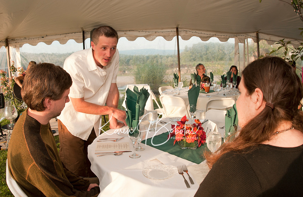 Farm to Table dinners bring fresh produce and a locally prepared meal to the table at Moulton Farm in Meredith.  (Karen Bobotas/for the Laconia Daily Sun)