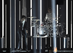 The 1975 on stage at the BRIT Awards 2017, held at The O2 Arena, in London.<br /><br />Picture date Tuesday February 22, 2017. Picture credit should read Matt Crossick/ EMPICS Entertainment. Editorial Use Only - No Merchandise.