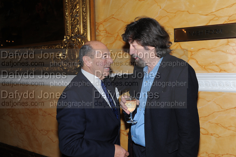 ARNOLD CROOK; TREVOR NUNN, Party following the Theatre Royal press night performance of The Lion in Winter , The Institute of Directors. London. 15 November 2011. <br /> <br />  , -DO NOT ARCHIVE-© Copyright Photograph by Dafydd Jones. 248 Clapham Rd. London SW9 0PZ. Tel 0207 820 0771. www.dafjones.com.