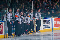 KELOWNA, CANADA - JANUARY 27: Ice officials on January 27, 2017 at Prospera Place in Kelowna, British Columbia, Canada.  (Photo by Marissa Baecker/Shoot the Breeze)  *** Local Caption ***