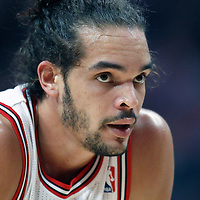 26 March 2012: Chicago Bulls center Joakim Noah (13) rests  during the Denver Nuggets 108-91 victory over the Chicago Bulls at the United Center, Chicago, Illinois, USA. NOTE TO USER: User expressly acknowledges and agrees that, by downloading and or using this photograph, User is consenting to the terms and conditions of the Getty Images License Agreement. Mandatory Credit: 2012 NBAE (Photo by Chris Elise/NBAE via Getty Images)