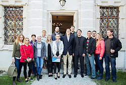 Primoz Kozmus, Olympic and World Champion in Hammer Throw with other Slovenian athletes when ending his sports career, on October 23, 2015 in Grad Brezice, Slovenia. Photo by Vid Ponikvar / Sportida