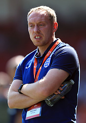 England U17's manager Steven Cooper during the UEFA European U17 Championship, Group A match at Banks's Stadium, Walsall.