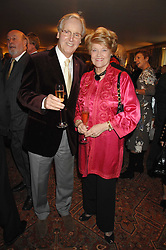 NICHOLAS & ANNIE PARSONS at a tribute lunch for Elaine Paige hosted by the Lady Taverners at The Dorchester, Park Lane, London on 13th November 2007.<br />