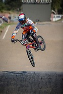 #192 (VAN DER BURG Dave) NED during practice at Round 9 of the 2019 UCI BMX Supercross World Cup in Santiago del Estero, Argentina