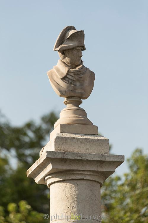 Napoleon head stone statue - Vallauris Golfe-Juan Cte dAzur, France
