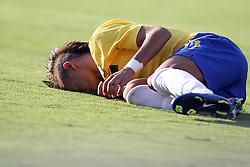 Neymar durante o jogo amistoso entre as seleções de Brasil e Hoalnda no estádio Arena da Baixada, em Goiânia, Brasil, em 04 de junho de 2011. FOTO: Jefferson Bernardes/Preview.com