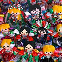 Americas, Mexico, Guanajuato. Handmade dolls dressed in traditional costumes of Guanajuato make for popular souvenirs.