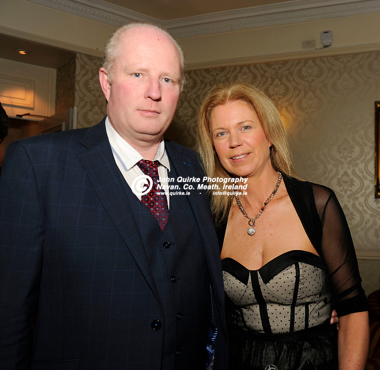 31-03-17. Meath Style Awards at the Headfort Arms Hotel, Kells.<br /> Morris and Cora Faherty, Virgínia, Co. Cavan.<br /> Photo: John Quirke / www.quirke.ie<br /> ©John Quirke Photography, Unit 17, Blackcastle Shopping Cte. Navan. Co. Meath. 046-9079044 / 087-2579454.
