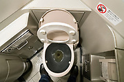 toilet in a Shinkansen bullet train Japan