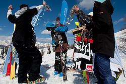 Winner Daniel Walchhofer of Austria after Europa Cup Slopestyle Vogel 2014, on March 16, 2014 at Vogel, Slovenia. Photo by Urban Urbanc / Sportida.com