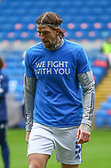 Cardiff City's Aden Flint (5) during the pre-match warm-up at before the EFL Sky Bet Championship match between Cardiff City and Millwall at the Cardiff City Stadium, Cardiff, Wales on 30 January 2021.