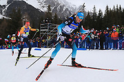Emilien Jacquelin (FRA) at the  Men 15 Km Mass Start during the IBU Biathlon World Championships, Sunday, Feb. 23, 2020, in Antholtz-Anterselva, Italy. (Pierre Teyessot-ESPA-Images/Image of Sport)