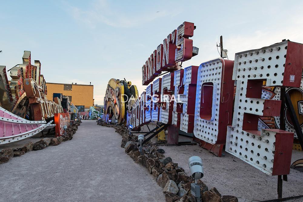 Neon Museum boneyard neon signs, Las Vegas, Nevada, USA