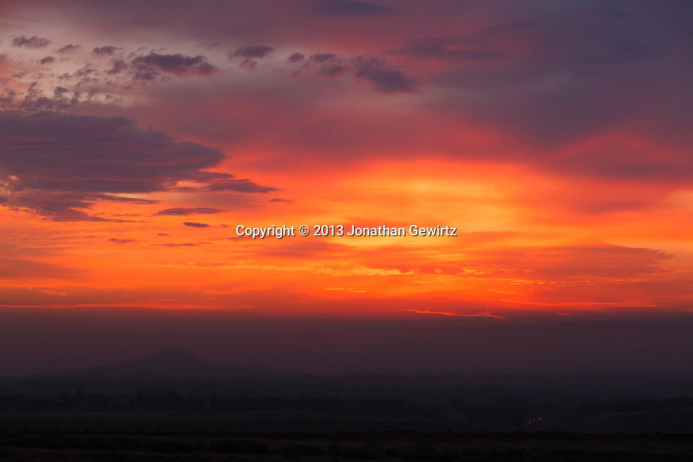 Boulder, Colorado open space, to the east of the Front Range, around sunrise. WATERMARKS WILL NOT APPEAR ON PRINTS OR LICENSED IMAGES.