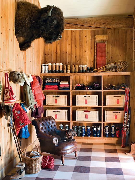 Entrance way in Yellowstone Club cabin