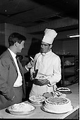 1963 - Footballer Paddy Roberts At The Gresham Hotel.  C281.