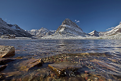 Swiftcurrent Lake, Mount, Grinnell, Mount Wilbur, Swiftcurrent Lodge, crystal clear lake.