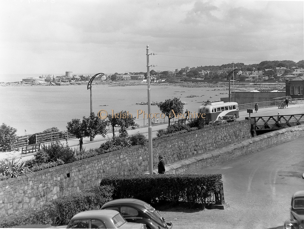 26/07/1958<br /> 07/26/1958<br /> 26 July 1958<br /> View from Hotel Pierre in Dun Laoghaire of the bay and James Joyce Tower.